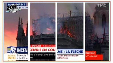20h Médias : comment les chaînes ont bouleversé leur dispositif pour l'incendie de Notre-Dame