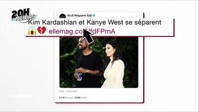 20h Médias : Kim et Kanye séparés ? Le fake tweet du magazine ELLE pour faire voter les Américains