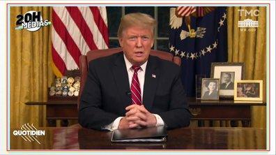 20h Médias : la première allocution de Donald Trump passée au crible