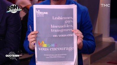 20h Médias : la Une polémique de la Tribune contre l'homophobie