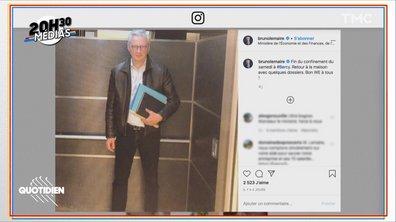 20h30 Médias : même en confinement, l'Instagram de Bruno Le Maire vaut le détour