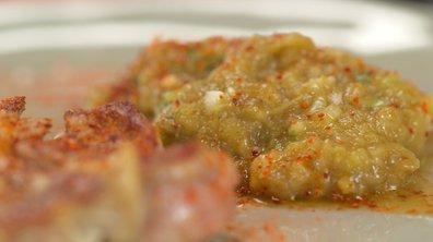 Agneau et caviar d'aubergine