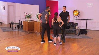 Marie et Cédric dansent avec Maxime Dereymez