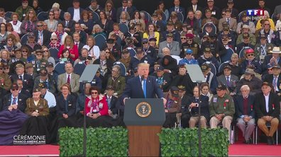 """75ème anniversaire du débarquement : """"Le peuple américain enlace le peuple français"""", déclare Donald Trump"""