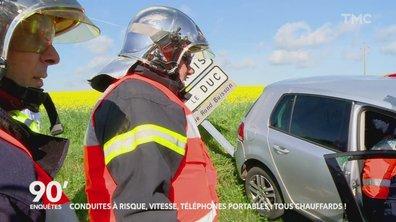 90' Enquêtes - Conduites à risque, vitesse et téléphones portables: tous chauffards