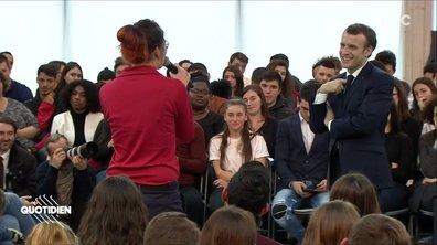 A Autun, Emmanuel Macron fait face à la jeunesse
