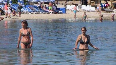 À Bandol, les vacanciers profitent du beau temps sur la plage