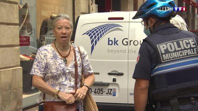 A Bordeaux, les forces de l'ordre contrôlent le respect du port du masque