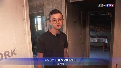 A quinze ans, Andy Lanvierge sauve sa maison des flammes