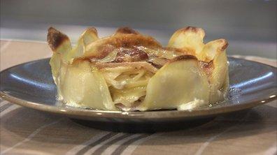 Petits gâteaux de pommes de terre à l'abondance, façon tartiflette, new look
