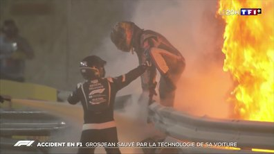 Accident en F1 : Romain Grosjean sauvé par la technologie de sa voiture