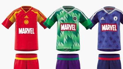Insolite : Les maillots de foot des super-héros !