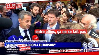 """Affaire des sous-marins : """"Le président a eu raison de réagir fermement"""", Nicolas Sarkozy apporte son soutien à Emmanuel Macron"""