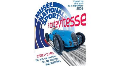 """Exposition """"A toute vitesse"""" au Musée National du Sport"""