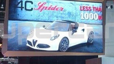 Salon de Genève 2014 : Alfa Romeo 4C Spider, les premières images scoop