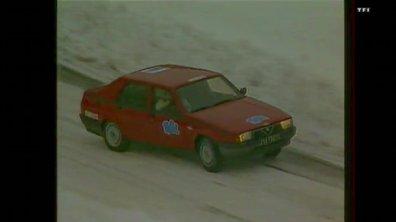 Automoto en Alfa Romeo au Rallye Monte-Carlo (18 janvier 1986)