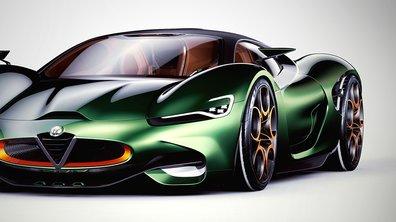 Un designer imagine la supercar Alfa Romeo Furia