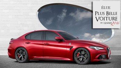 """L'Alfa Romeo Giulia élue """"Plus Belle Voiture de l'Année 2016"""""""