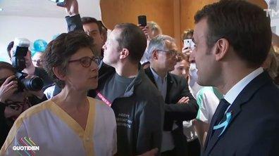 À Rouen, ambiance tendue pour Emmanuel Macron