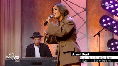 """Amel Bent : """"Le chant des colombes"""" en live pour Quotidien"""