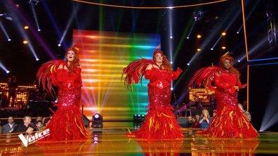 """Ana Ka, Stacey King, Amalya Delepierre et la troupe de """"Priscilla folle du désert"""" interprète un medley"""