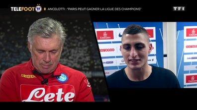"""[EXCLU Téléfoot – 04/11] - Ancelotti sur Verratti : """"Avec Marco c'est une affection réciproque"""""""