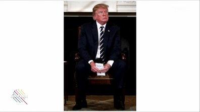 L'image du jour de Lilia : les antisèches de Donald Trump