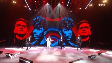 """THE VOICE 2020 – Antoine Delie, Abi, Gustine et Tom Rochet chantent """"Feeling Good"""" de Nina Simone (Finale)"""