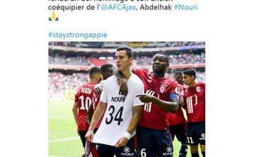 """Lille: El Ghazi a reçu """"le carton jaune le plus gentil"""" en rendant hommage à Nouri"""