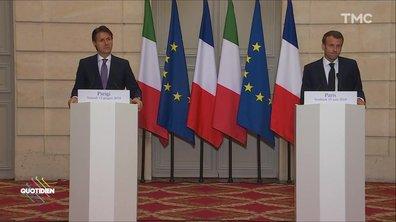 Aquarius : Giuseppe Conte rencontre Emmanuel Macron, fin de polémique ?