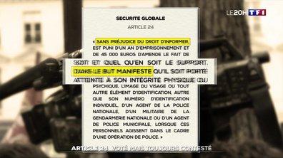 Article 24 de la loi sur la sécurité globale : voté mais toujours contesté