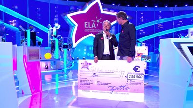 L'association ELA repart avec un chèque de 135 000 euros !