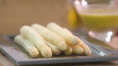 Atelier achat, préparation et cuisson des asperges blanches, violettes et vertes.