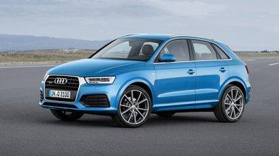 Audi Q3 2015 : calandre restylée et 340 ch pour la nouvelle RS
