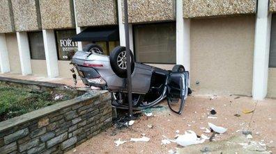 Insolite : une Audi Q5 tombe du 4ème étage, la conductrice miraculée