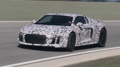 Audi R8 2015 : première présentation sous camouflage