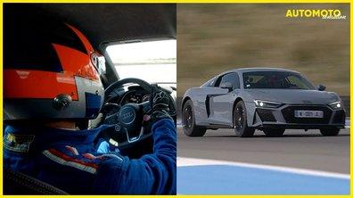 Automoto Sensation : caméra embarquée en Audi R8 RWD sur circuit
