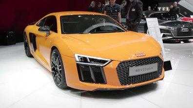 La nouvelle Audi R8 V10 en puissance au Salon de Genève 2015