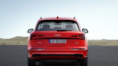 L'Audi SQ5 a quatre canules d'échappement... complètement factices