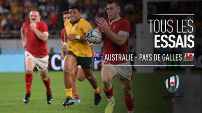 Australie - Pays de Galles : Voir tous les essais du match en vidéo