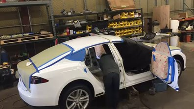 Insolite : une Limousine Tesla !