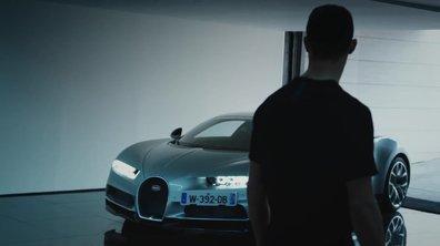 Cristiano Ronaldo au volant de la Bugatti Chiron
