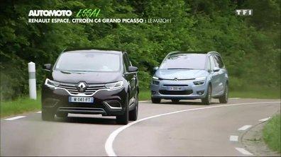 Essai Auto : Renault Espace vs Citroën C4 Grand Picasso, le match