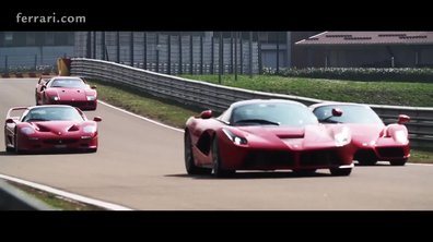 Les Ferrari F40, F50, Enzo et LaFerrari sur le circuit de Fiorano