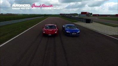 Grand Format : Ferrari 488 GTB contre Audi R8, duel sur piste