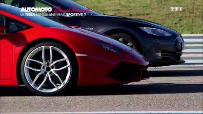 Grand Format : Tesla Model S P85D face aux Mercedes-AMG GT et Lamborghini Huracan sur circuit !