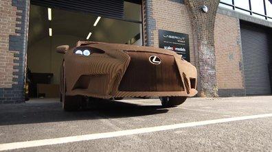 Insolite : Lexus dévoile une voiture en carton