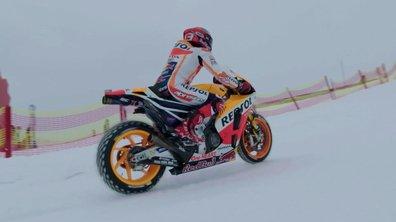 Insolite : Marc Marquez en Honda MotoGP... sur une piste de ski