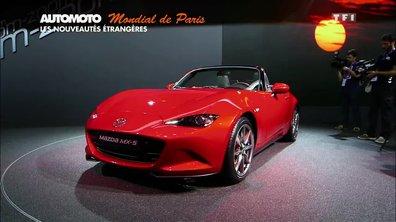 Mondial de l'Automobile 2014 - Les étrangères : Jaguar XE, Mazda MX-5, smart...