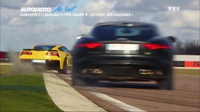 No Limit : Corvette Stingray vs Jaguar F-Type Coupé R, le choc des cultures !